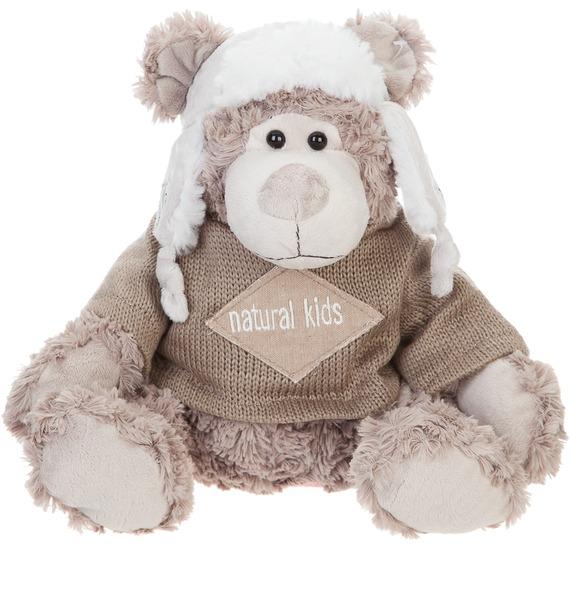 Мягкая игрушка Мишка Кларк в шапке-ушанке и кофте (20 см) цена