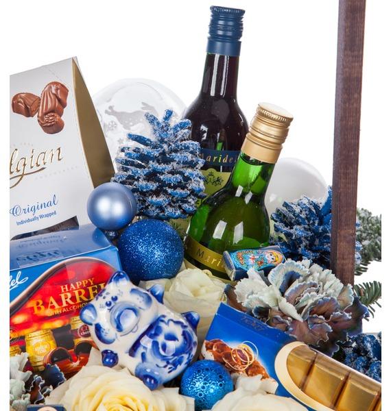Подарочное кашпо Русская зима (Вино в подарок) – фото № 2