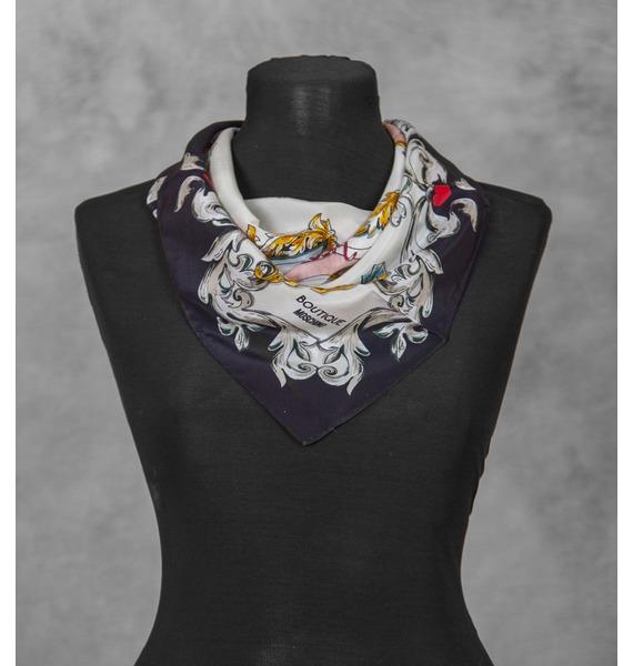 Шелковый платок MOSCHINO Classic (Италия, 50х50 см) – фото № 1
