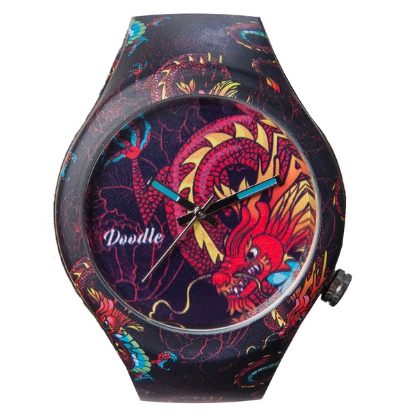 Часы Doodle Дракон часы doodle белый череп