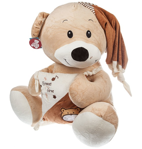 Мягкая игрушка Медведь с подушкой (80 см)