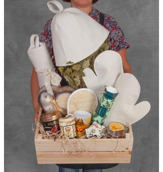 Подарочное кашпо Банька подарочное кашпо для крепкого здоровья