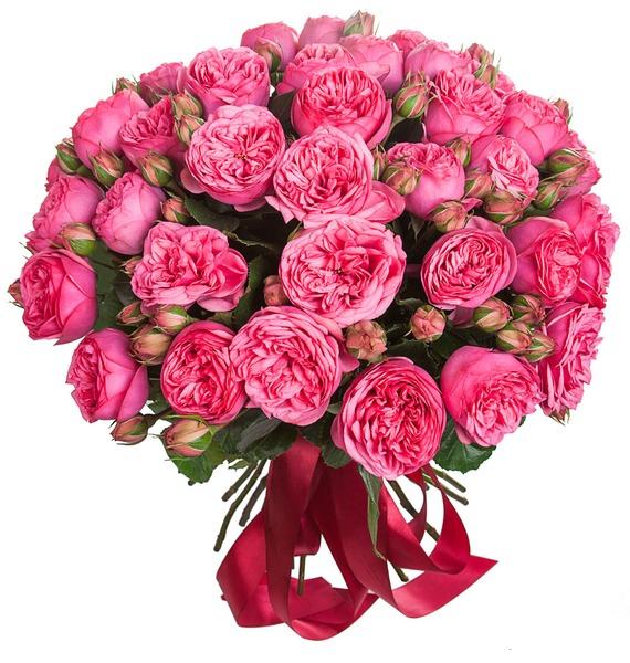 Букет из пионовидных роз Pink Piano (15, 25 или 51) – фото № 2