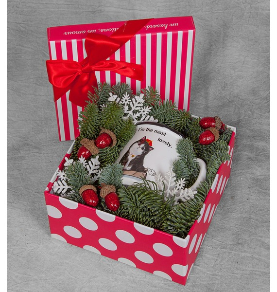 Подарочная коробка С заботой о ней коробка подарочная совы на белом 19 12 5 8см картон kairui 13 kairui hz 907m