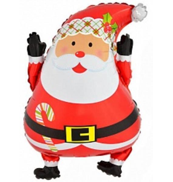 Воздушный шар Весёлый Санта (66 см) воздушный шар поросенок с игрушкой 79 см