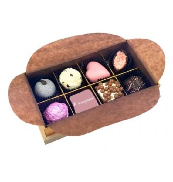 Конфеты ручной работы из бельгийского шоколада Кристаллы сердца-8 – фото № 1