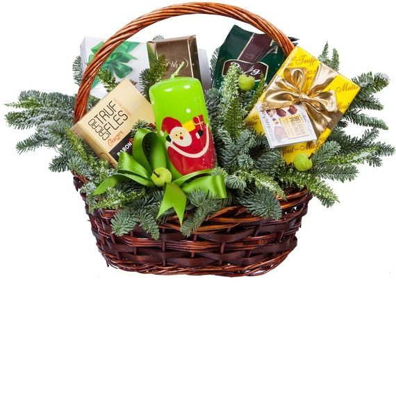 Подарочная корзина «Рождественская свеча» подарочная корзина чайная с заварочной кружкой