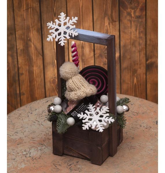 Подарочное кашпо Зимняя шапочка