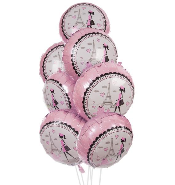 Букет шаров Парижанка (7 или 15 шаров)