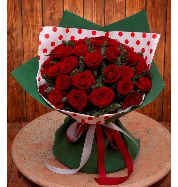Букет-соло роз Гран При (15,25,35,51,75,101 или 151)