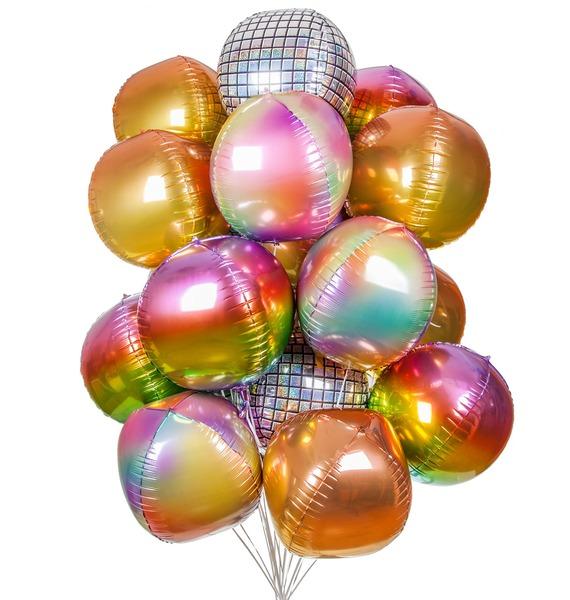 Букет шаров Палитра настроения (21 или 41 шар) – фото № 1