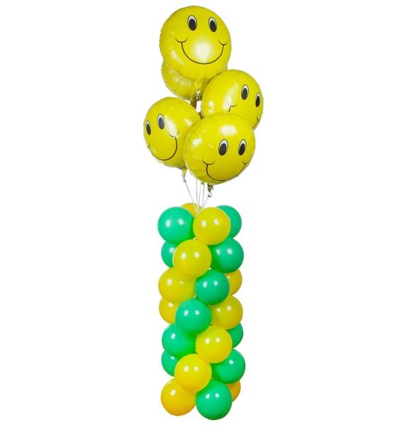 Композиция из шаров Улыбнись композиция из шаров букет