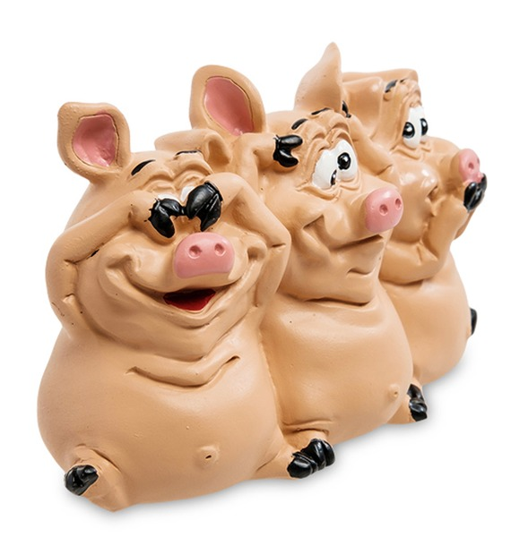 Статуэтка Трио мудрых свиней – фото № 2