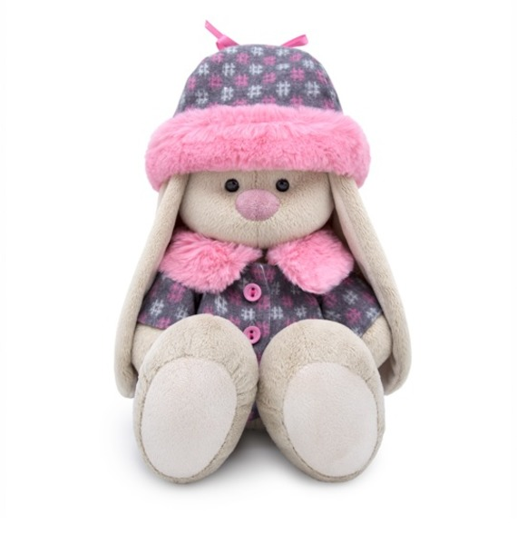 """Мягкая игрушка """"Зайка Ми в пальто и шапке"""" sima land мягкая игрушка зайка гаврош 30 см"""