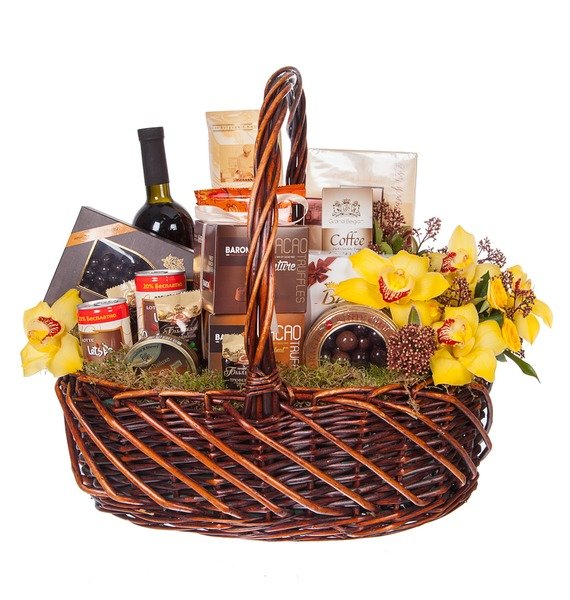 Подарочная корзина Всё в шоколаде (Красное вино в подарок) – фото № 4