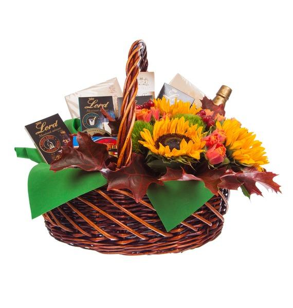 Подарочная корзина Осенний вечер (Бренди в подарок) – фото № 4