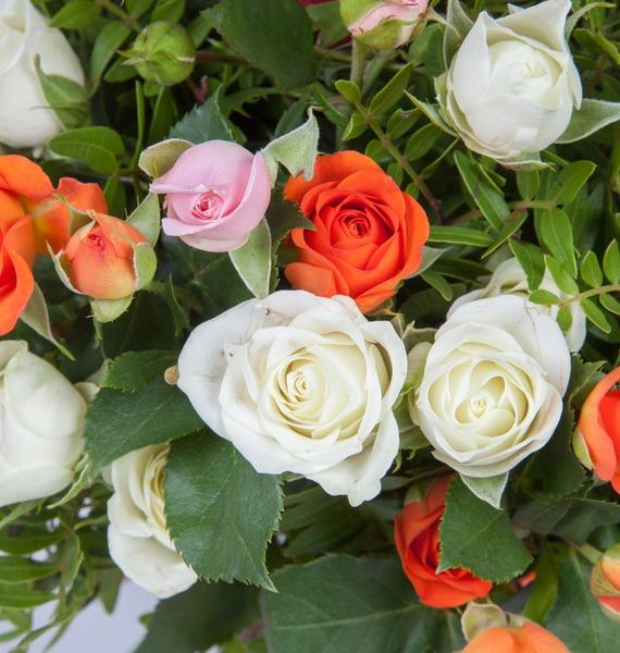 Bouquet of bush roses Transfiguration – photo #3