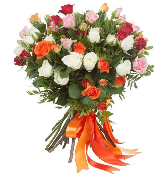 Букет кустовых роз Преображение – фото № 2