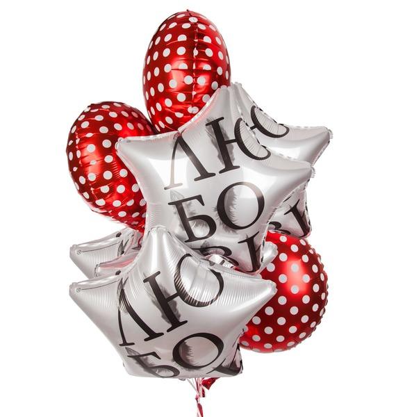 Букет шаров Горошинка (7 или 15 шаров) букет шаров сладкий пончик 5 или 9 шаров