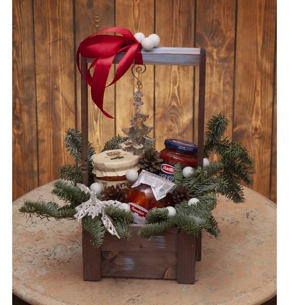 Подарочное кашпо Новогодний узор
