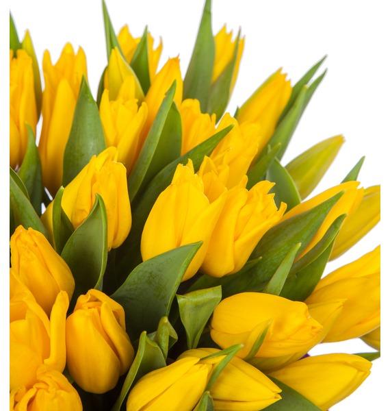 Композиция из желтых тюльпанов в вазе – фото № 2