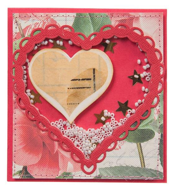 Открытка ручной работы Сердечная история открытка ручной работы роза