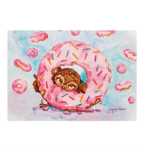 Фото - Почтовая открытка Один кофе - один пончик почтовая открытка tenerife garachico испания конец хх века