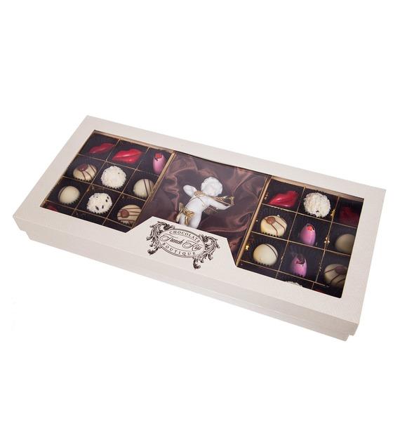 Конфеты ручной работы из бельгийского шоколада Аметист Ангел – фото № 4