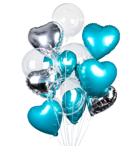 Букет шаров Романтика (14 или 29 шаров) букет шаров сладкий пончик 5 или 9 шаров