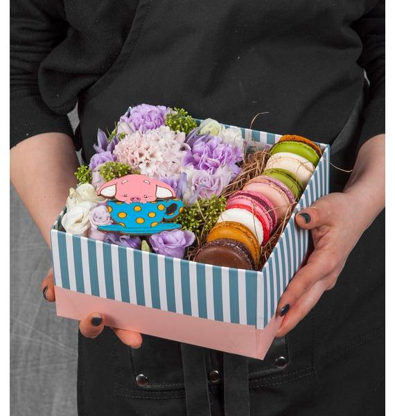Подарочная коробка Сладкий комплимент коробка подарочная бант 20х10х5 5 см