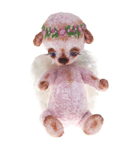 авторская игрушка ручной работы мишка тедди с любовью Игрушка ручной работы Мишка. Милый ангелочек