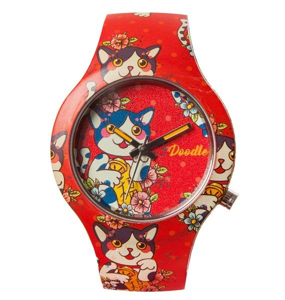 Часы Doodle Мультяшный кот часы doodle мультяшный кот
