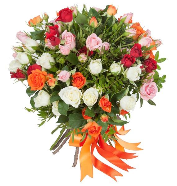 Букет кустовых роз Преображение – фото № 1