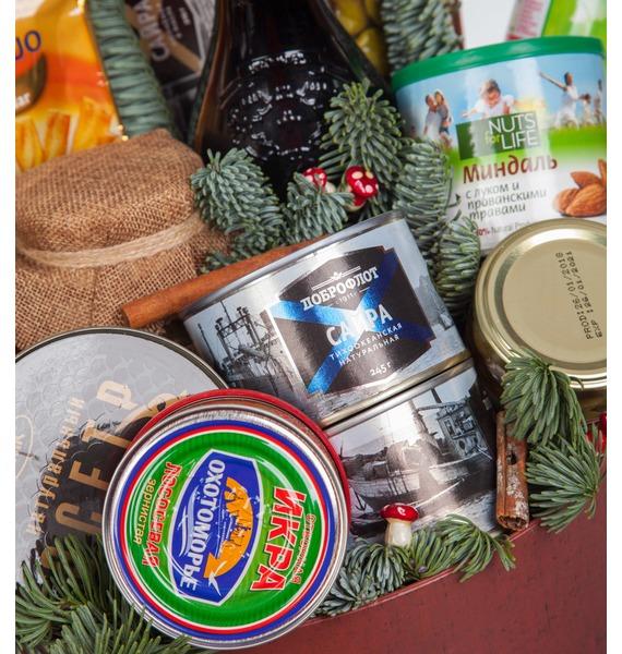 Подарочная коробка Новогодняя суета (Ликёр в подарок) – фото № 3