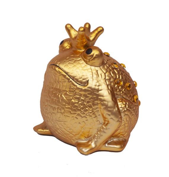 Копилка Золотая Царевна Лягушка (с золотыми кристаллами)