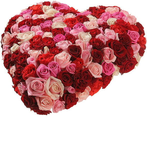Композиция из роз Нежность и страсть – фото № 4
