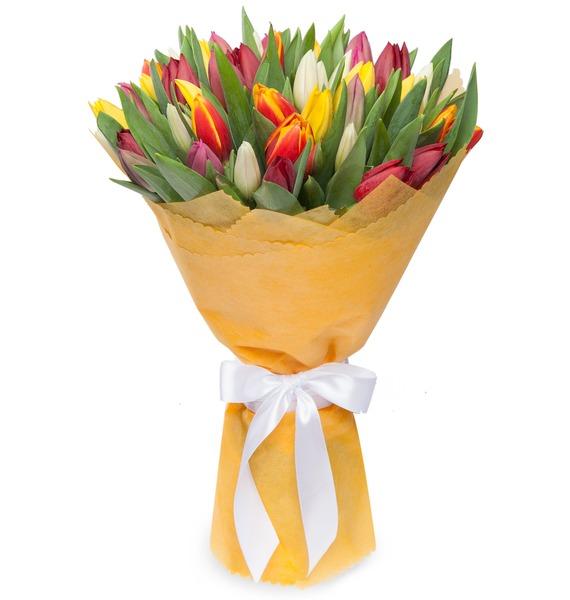 Букет из тюльпанов Понравится всем (31 или 51) – фото № 2