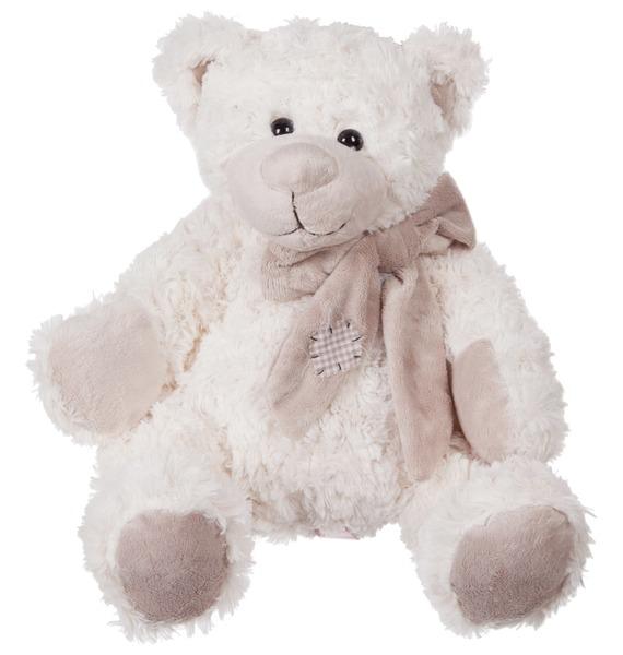 """Мягкая игрушка """"Мишка Сэм в шарфе"""" (28 см)"""