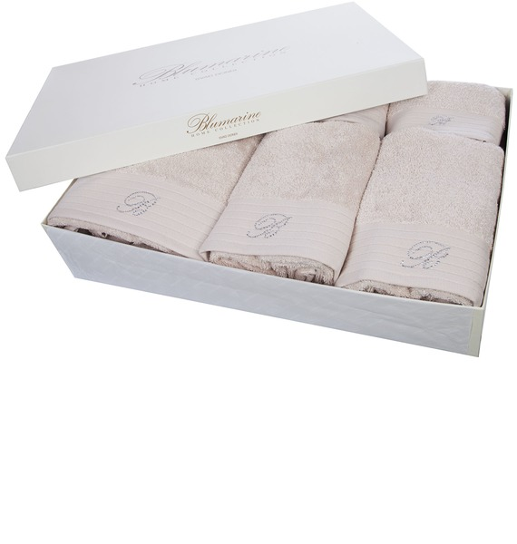все цены на Подарочный набор из 5-ти полотенец+коврик для ванной Blumarine онлайн