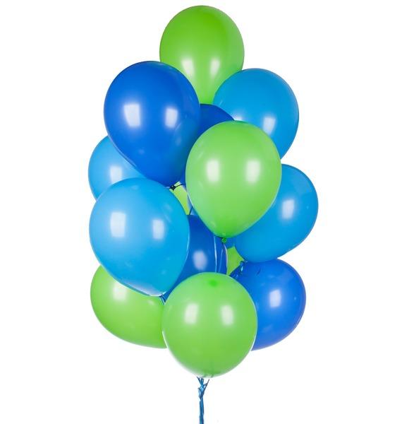 Букет шаров Ассорти для мальчика (15 или 31 шар) букет из гортензии 31 или 61