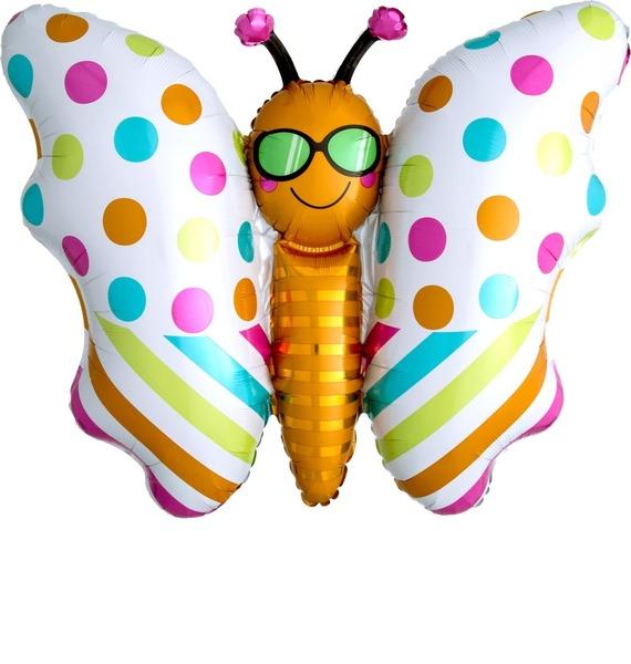 """Воздушный шар """"Стильная бабочка"""" (84 см)"""