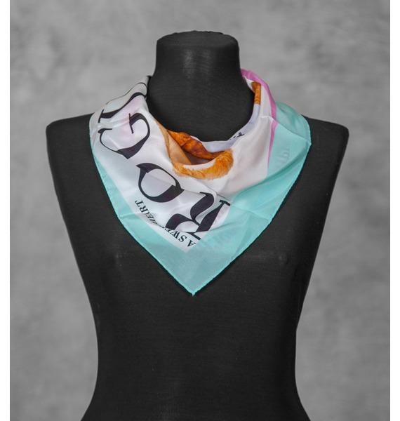 Шелковый платок MOSCHINO (Италия, 50х50 см) – фото № 1