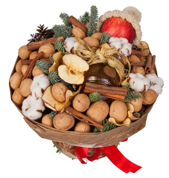 Букет из орехов, сухофруктов и мёда Зимнее чаепитие – фото № 5