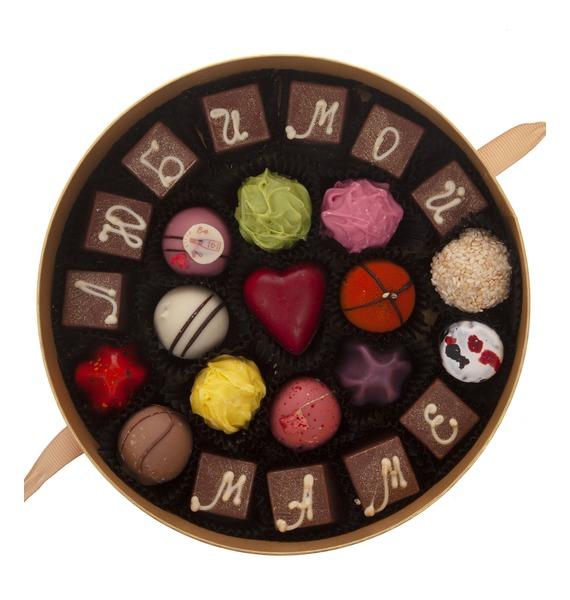"""Конфеты ручной работы из бельгийского шоколада """"Любимой маме"""""""