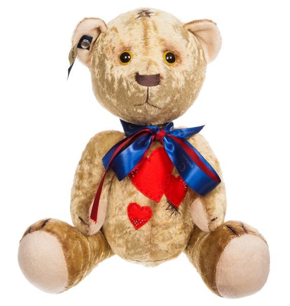 авторская игрушка ручной работы мишка тедди с любовью Игрушка ручной работы Влюбленный мишка