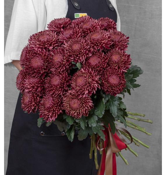 Букет одноголовых хризантем Bigoudi Red (21, 35 или 51) ландшафтное освещение starlight 648pcs 1 5 110 220 stc 648 1 5 red