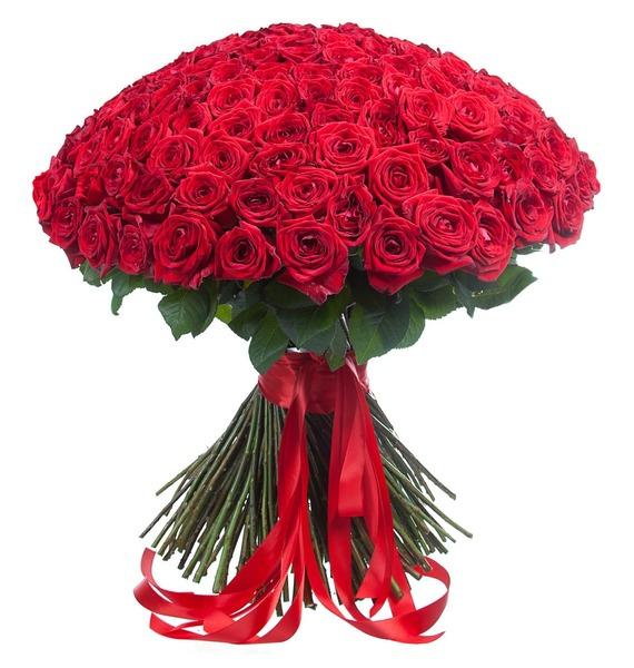 Букет из 201 красной розы «Ты - мой мир!» ковш idea деко розы 1 5 л