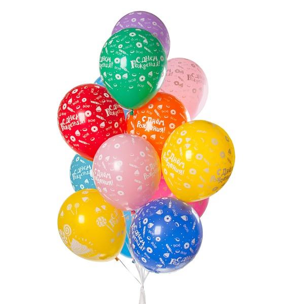 Букет шаров С Днём Рождения! (Сладости) (15 или 31 шар) – фото № 1