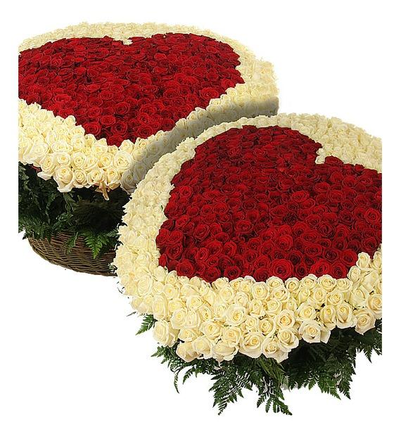 """Композиция """"Созданы быть вместе"""" (1001 роза) композиция из 1001 розы"""
