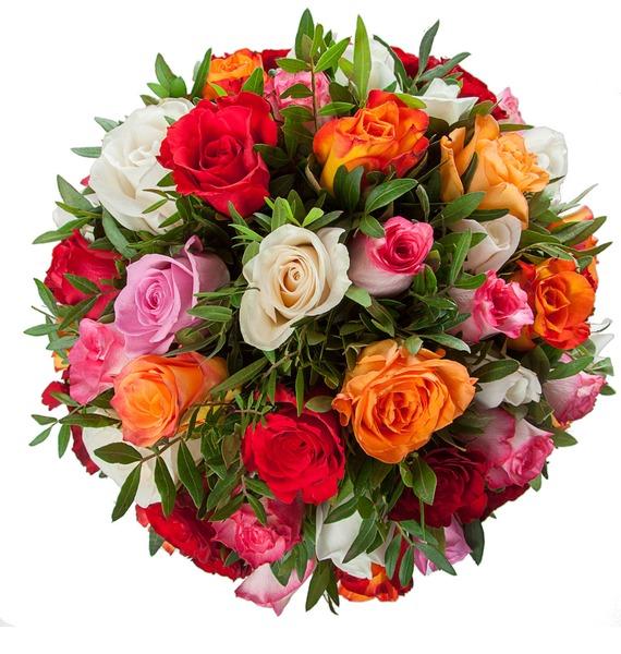 Букет Радуга (51 или 101 роза) – фото № 4